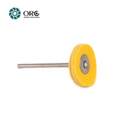 Miniature Simulated Leather Wheel-Yellow Soft